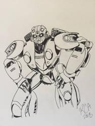 Bumblebee drawing by robertamaya