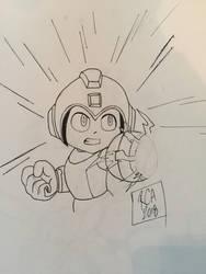 Mega Man drawing by robertamaya