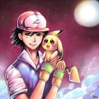 Ash and Pikachu: Bro Love by Sukesha-Ray