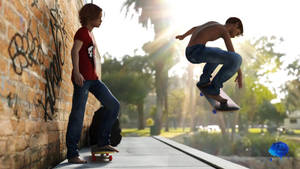 Barefoot Skaterboys by youiez