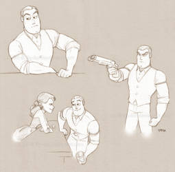 Buzz's bar sketches by lily-fox