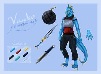 Go All Out! Game Concept Art - Vaako - by PuroArt