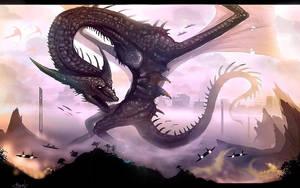 Dragon beast of Khalazas by VampirePrincess007
