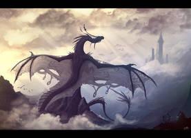 Sky dragon by VampirePrincess007