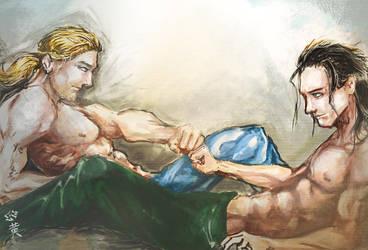 Asgardian Brofist by ekoyagami