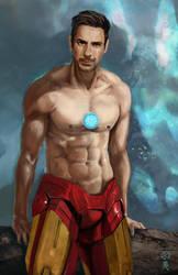 Tony Stark Half Armor by ekoyagami