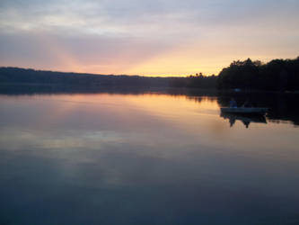 Lake At Sunset by photographybymia