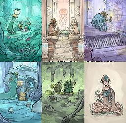 Board game illustrations 1 by InsaneNudl