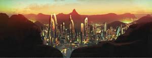 Scifi Cityscape by axl99