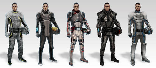 Sci-fi military pilots by axl99