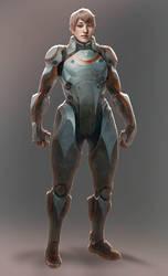 Lady in Sci Fi Amor by axl99