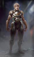 Lady in Sci Fi Armor - polish pass by axl99