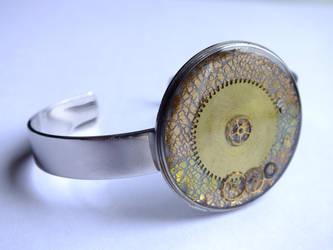 Bracelet steampunk by othewhitewizard