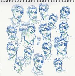 Left-handed Majima portraits by 0torno