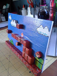 Super mario Bros. diorama by binky1020