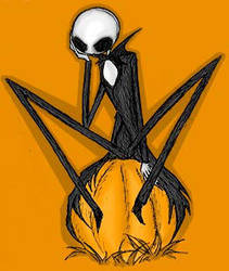 Jack Skellington - Thoughtful by chanchan