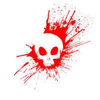 Bloody Skull - white by ZethXD