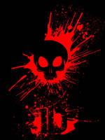 Bloody Skull - black - ID by ZethXD