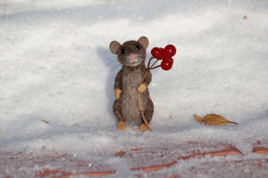 Needle felted mouse 4 by Sillykoshka