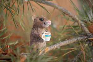 Needle felted mouse 5 by Sillykoshka