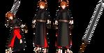 Aleph -the swordsman- (MMD OC) (update model) by Subnormal5000