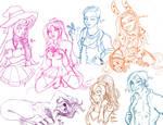 Livestream sketchdump by Unisamas-Art
