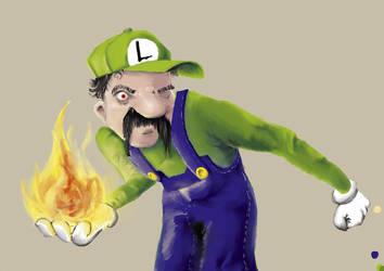 Luigi has a bad temper by hekcis