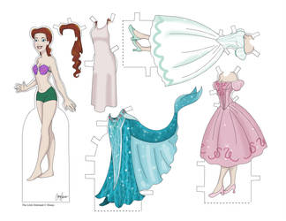 Ariel Paper Doll by Cor104