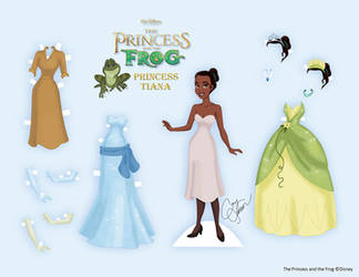Tiana Paper Doll by Cor104