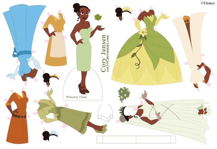 Princess Tiana Paper Doll by Cor104