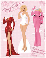 Marilyn Monroe Paper Doll by Cor104