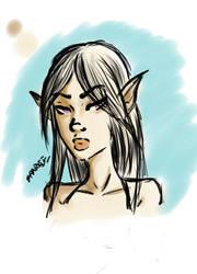 Portrait 2- Elf by SparkieTheArtist