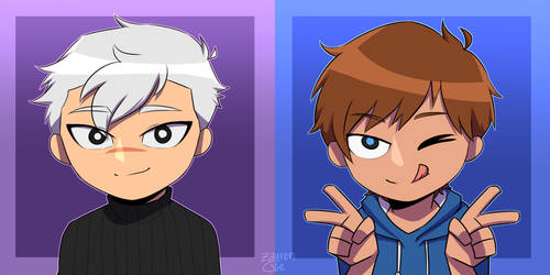 Shiro and lance Icon (Icon Commission is OPEN) by jettnight