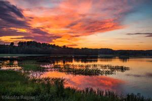 Finnish sunset by Behindmyblueeyes