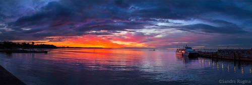 Midsummer sunset Tallinn by Behindmyblueeyes
