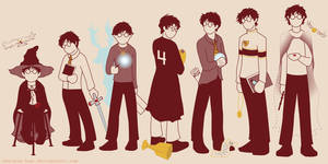 Harry through the years by achelseabee