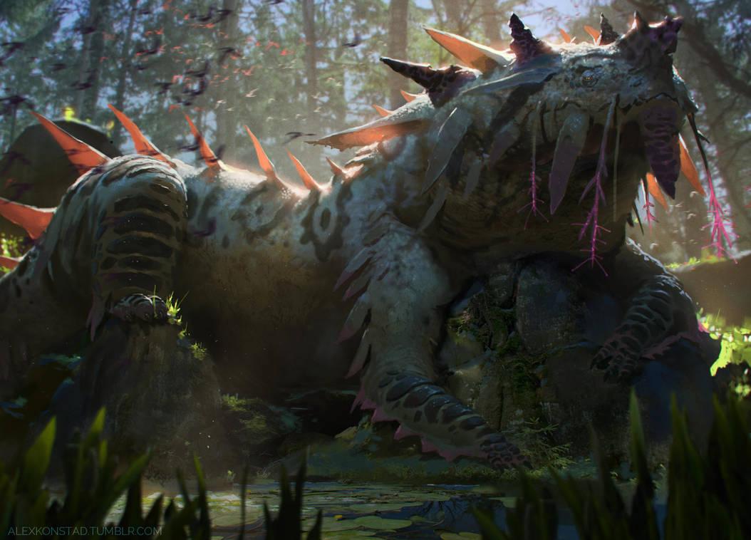 Swamp Dragon by AlexKonstad