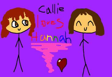 Callie Loves Hannah! by MatveyJeevas