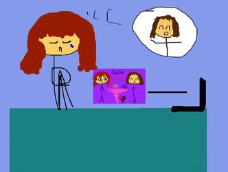 Callie Misses Hannah by MatveyJeevas