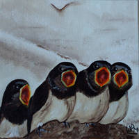 Baby swallows by WendyMitchell