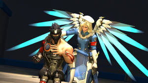 [SFM] Mercy and BlackGenji by joke1597