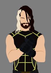 Seth Rollins vector by blackdragonkokoryu