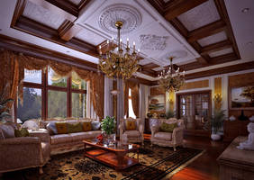 Classic Living Area by biz-kong