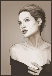 Angelina Jolie in Pseudo-Sepia by verucasalt82