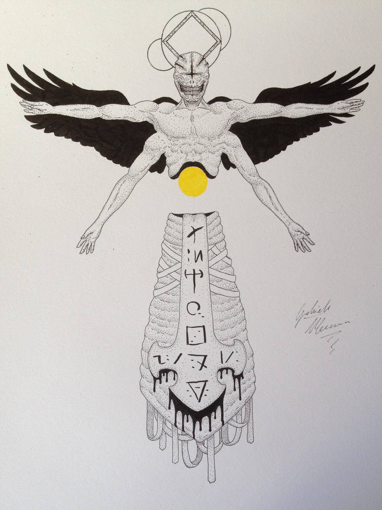 Sauriel - corrupted angel of sin by GabriM3