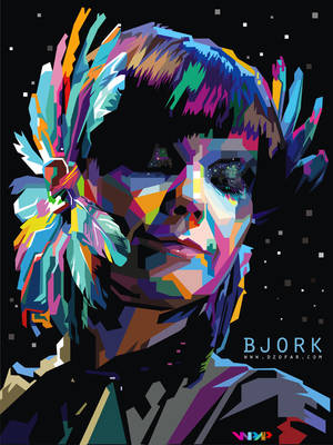 bjork homogenic pop art WPAP by ndop