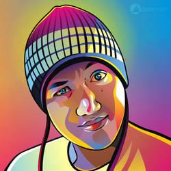 Ndop Kupluk Rainbow Vector by ndop