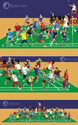 Badminton Vector by ndop