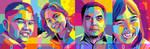 Pop Art WPAP Family by ndop