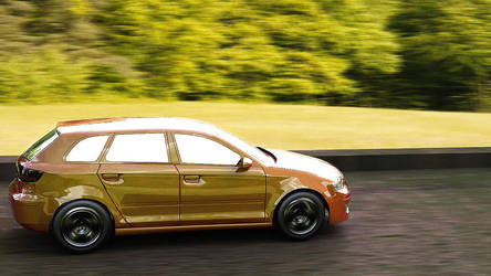 Audi A3 on the road by janu-onliners
